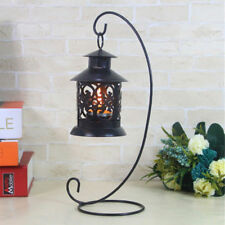 New Iron Wedding Candle Holder Candlestick Glass Ball Lantern Hanging Stand #EY0