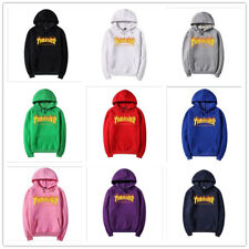 New Flame Logo men and women with the flame fleece hoodies couple tops clothing