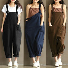 Girls Loose Cozy Jumpsuit Strap Dungarees Overall Suspender Long Pants Trousers