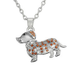 Trendy Lovely Crystal Little Puppy Dog Pet Animal Pendant Charm Necklace Jewelry