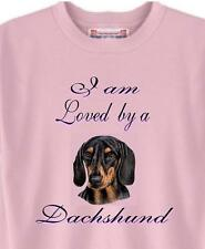 Dog T Shirt - I am Loved by a Dachshund - Women Rescue Adopt Animal Cat # 47