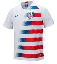 Nike Men USA 2018 Home S/S Shirt World Cup Football White Top Jersey 893902-100