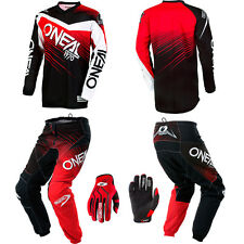 O'Neal Element Red motocross MX gear - Jersey Pants Gloves Kids / Youth Combo