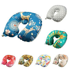 Inflatable Portable Travel Neck Pillows with Soft Velvet Neck Head Support