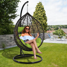 Patio Wicker Swing Egg Chair Rattan Hanging Hammock Pod Chair Outdoor Furniture