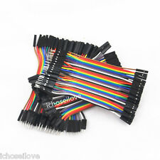 40PCS Dupont wire jumper cables 10CM Length 2.54MM Male Female 1P-1P For Arduino