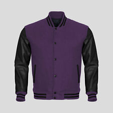 Supreme Varsity Letterman Baseball Collage Bomber Jacket in Wool & Faux Leather