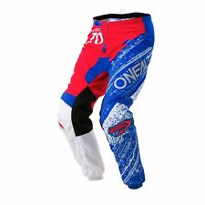 Oneal 2018 Element Burnout Offroad Motocross Pants - Red/White/Blue - 0108