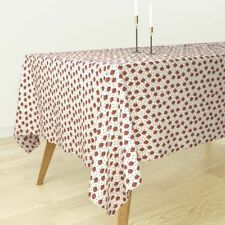 Tablecloth Strawberry Triangle Summer Strawberries Fruits Fruit Cotton Sateen