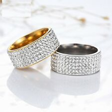 Unisex Wedding Party Lovers Jewelry Stainless Steel Rings,Romance Charms Gift
