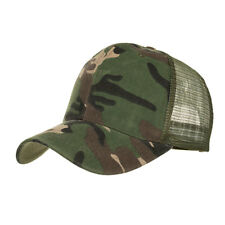 Camouflage Mesh Trucker Cap for Men - Camo Plain Mesh Trucker Hat Adjustable ...