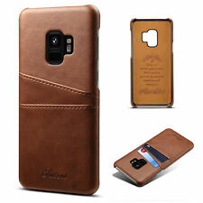 For Samsung Galaxy S9 /S9 Plus Ultra Slim Leather Wallet Card Slot Phone Case