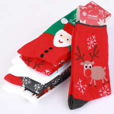 Women's Winter Socks Christmas Gift Warm Soft Cotton Sock Cute Santa Claus Deer#