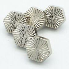 10pcs Round Metal Shirt Shank Buttons Silver Gold Coat Button Sewing Craft 10mm