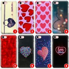 Hearts Slim Flexible Phone Case for iPhone | Paris Vibes Heart Cute