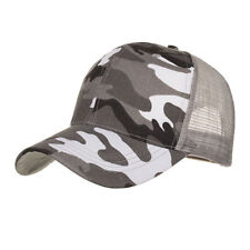 Camouflage Mesh Trucker Cap for Men - Camo Plain Mesh Trucker Hat Adjustable for