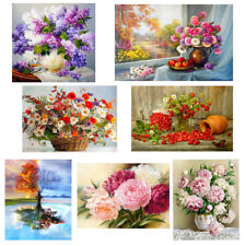 Flowers 5D Drill Embroidery Diamond Painting Cross DIY Crafts Stitch Kit Decor