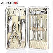 Manicure Set Nail Care Tools Pedicure Nail Clipper Kit 12PCS Stainless Steel
