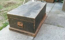 VINTAGE WOODEN CARPENTERS TOOL CHEST, STORAGE TRUNK, TOY BOX, COFFEE TABLE, PINE