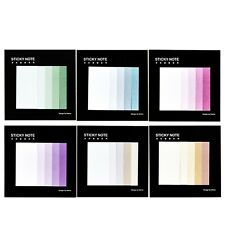Gradient Notebook Memo Pad Self-Adhesive Sticky Notes Office School Supplies