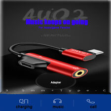 USAMS USB 2 in 1 Type-C to 3.5mm Adapter Charge and Headphone Head Aux Audio