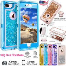 Liquid Rugged Quicksand Glitter Dynamic Clear Hard Case Cover For iPhone X 8 7 6