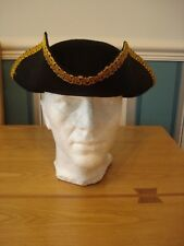 1 X ADULT TRICORN PIRATE FELT HAT NEW  FANCY DRESS