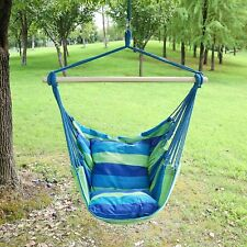 Hanging Hammock Chair Swing Rope Chair Porch Swing Seat Patio Camping Portable