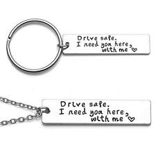 Him Boy Pendant Trucker Key Chains Stainless Steel Drive Safe Handsome Keyring