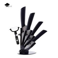 White Blade Ceramic Kitchen Chef Knives With Peeler & Knife Holder Cooking Set