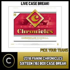 2018 PANINI CHRONICLES BASEBALL 16 BOX FULL CASE BREAK #A021 - PICK YOUR TEAM