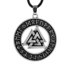 Vikings Valknut RUNE Pendant Necklace