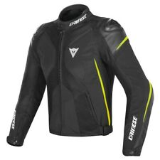 DAINESE SUPER RIDER D-DRY BLACK BLACK FLUO-YELLOW MOTORCYCLE JACKET - NEW!