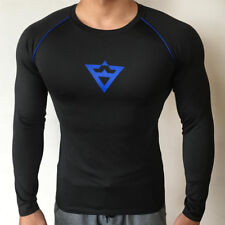 Men's Sport Fitness Athletic Quick Dry Elastic T-shirt Gym Long Sleeve Clothing