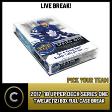 2017-18 UPPER DECK SERIES 1 - 12 BOX FULL CASE BREAK #H144 - PICK YOUR TEAM -