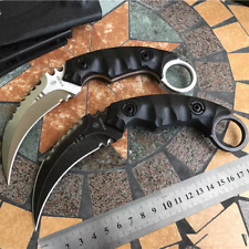 Quality Karambit D2 Steel Fixed Blade Outdoor Knife Tools Hunting Camping Knives