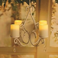 Victorian Trading Co Hanging White Iron Candelabra