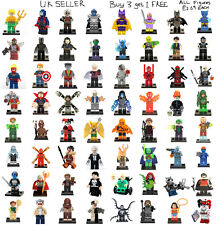 Marvel & DC Minifigure Spider Man Joker Avengers Batman Mini Figure £2.69 Each