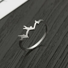 705E Elegant Fashion Ring Finger Ring Mountain Shape Silver Gifts Jewelry 4972