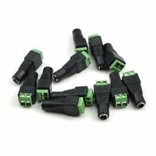 10Pcs DC 12V Power Plug Adapter Connector For 5050 3528 LED Strip Power