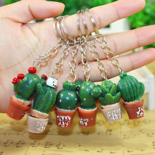 Novelty Simulation Cactus Key Ring Key Chain Car Bag Hangbag Plant Pendant Gift