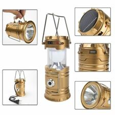 Solar Power Camping USB Hiking LED Lantern Rechargeable Tent Hanging Light Lamp
