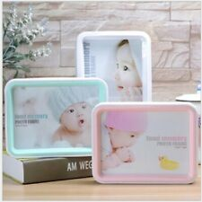 7 inch Creative Double sided PVC photo Frame Home Desk Decor White Pink Blue D1a