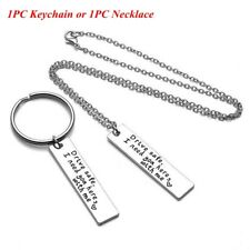 Husband Drive Safe Handsome Keyring Stainless Steel Trucker Key Chains Pendant