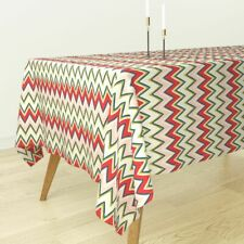 Tablecloth Chevron Pink Red Green Blue Holli Zollinger Cotton Sateen