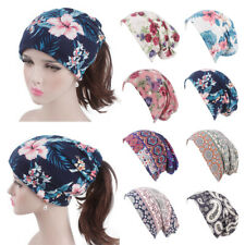 print Ruffle headwear Women Turban Head Wrap Cap Cancer Chemo Hat Elastic