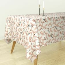 Tablecloth Blush Fox Animal Nursery Baby Pink Holli Zollinger Cotton Sateen