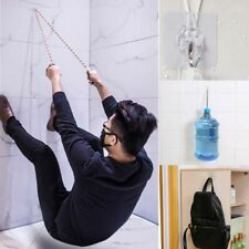 1/2 Strong Transparent Suction Cup Sucker Wall Hooks Hanger For Kitchen Bathroom