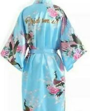 SATIN KIMONO ROBE FOR BRIDESMAID, MAID OF HONOR, BRIDE, MOTHER OF THE BRIDE