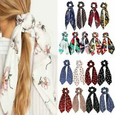 Beautiful Ponytail Scarf Bow Elastic Hair Rope Tie Scrunchies Ribbon Hair Bands